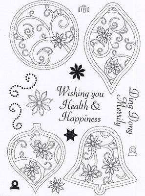Creative Expressions - Clear Stamps - Stitched Baubles