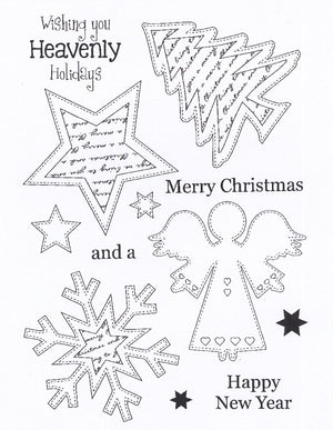Creative Expressions - Clear Stamps - Stitched Angel Ornaments
