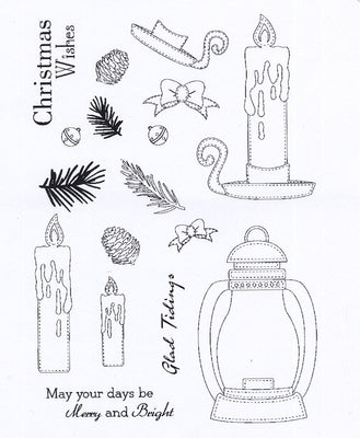 Creative Expressions - Clear Stamps - Candle Lit Christmas