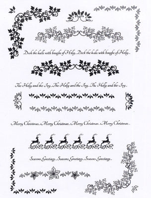 Creative Expressions - Clear Stamps - Christmas Borders and Flourishes