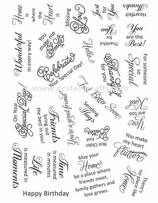 Creative Expressions - Clear Stamps - Sweet Wishes
