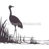 Frog's Whiskers Stamps - Standing Crane