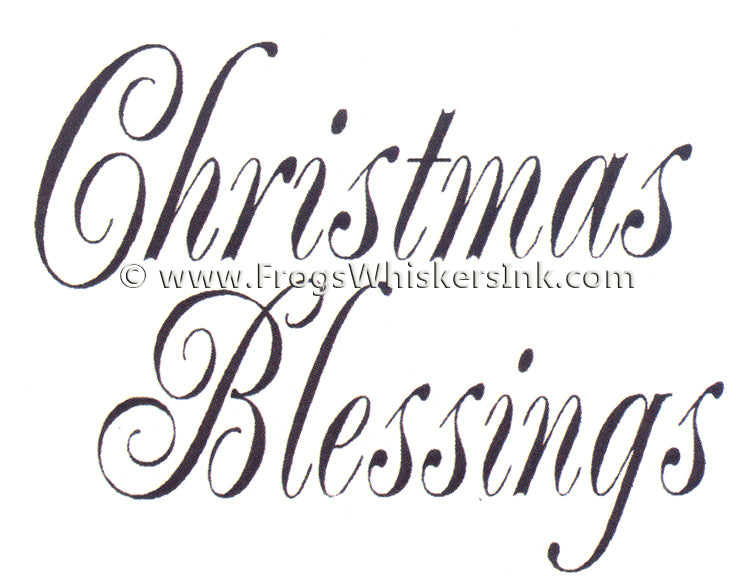 Frog's Whiskers Stamps - Christmas Blessings