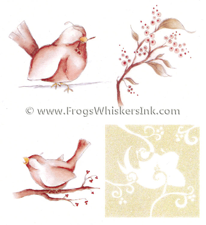 Frog's Whiskers Stamps - Christmas Birds