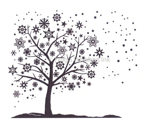 Frog's Whiskers Stamps - Snowflake Tree