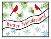 Frog's Whiskers Stamps - Winter Wonderland Wave Stamp