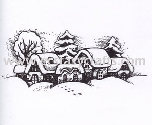 "Clear stamps Christmas-time series ""Snowy Village"""