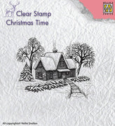 Nellie's Choice Stamp - Idyllic Winter Scene