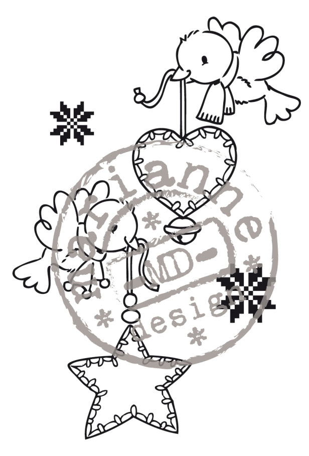Clear Stamps - Merry Little Christmas-Flying Decorations