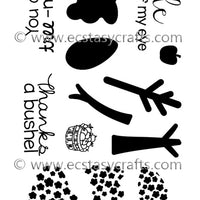 Frantic Stamper Clear Stamp - Set - Lollipop Trees