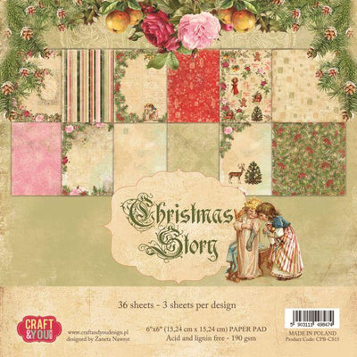 Craft & You Design Christmas Story 6x6 Paper Pad