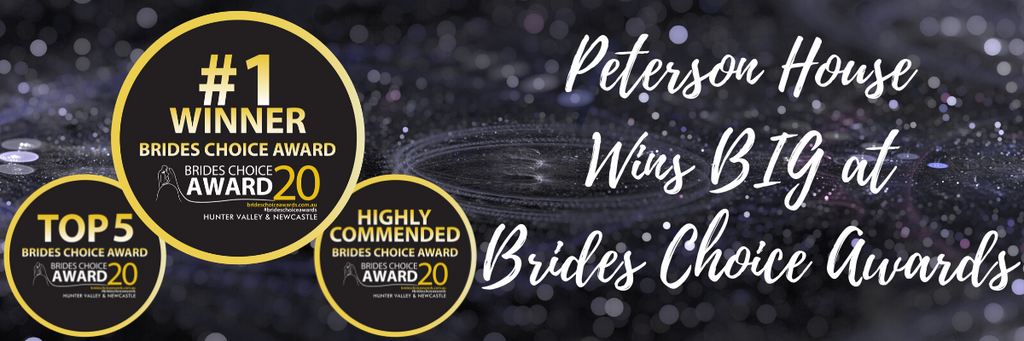 PETERSON HOUSE WINS BIG AT 2020 BRIDES CHOICE AWARDS