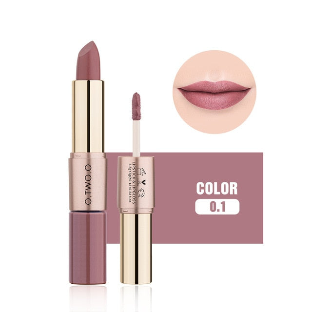 12 Color 2-in-1 Matte Lipstick & Liquid Lipstick