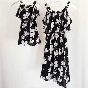 Mother Daughter Matching Floral Dresses