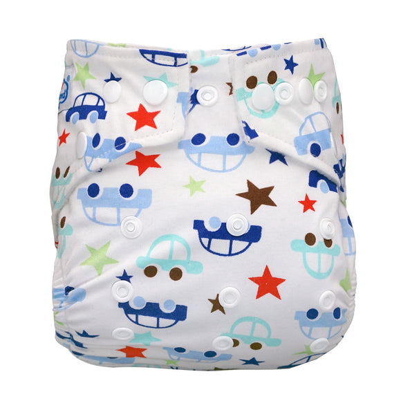 Night ride -Cotton PUL Babyland Microfleece Pocket Diaper