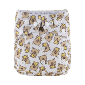 Bear Army - Microfleece Pocket Diaper