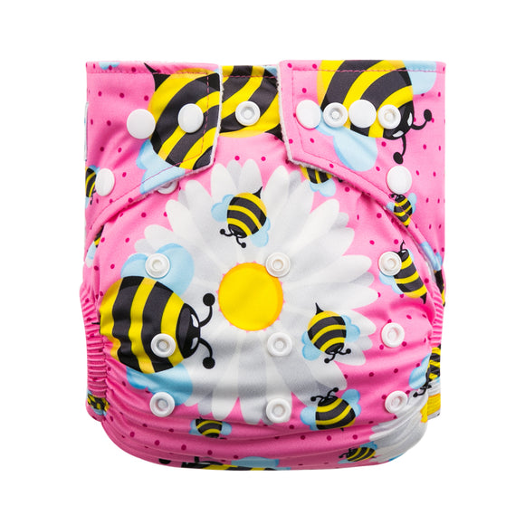 Big Black Bee - Babyland Microfleece Pocket Diaper