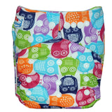 Colour owls- Charcoal Bamboo Pocket - Single Gusset
