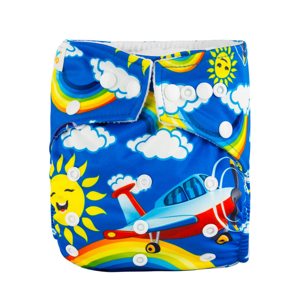 Let's Fly - Babyland Microfleece Pocket Diaper