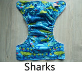 Sharks - Sunbaby Size 1 Microfleece Pocket Diaper + Insert