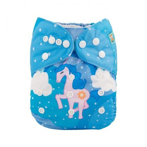 The Angel Ride - Position Printed Microsuede Pocket Diaper+ MF Insert