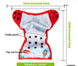 Orange Delight - New Born Diaper Cover with Snap-on Bamboo Insert and Fleece Liner