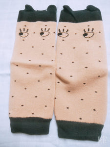 coffee brownsurprise Legwarmers - Small
