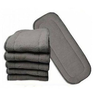 Charcoal Bamboo Insert - 5 Layer - Eco Green