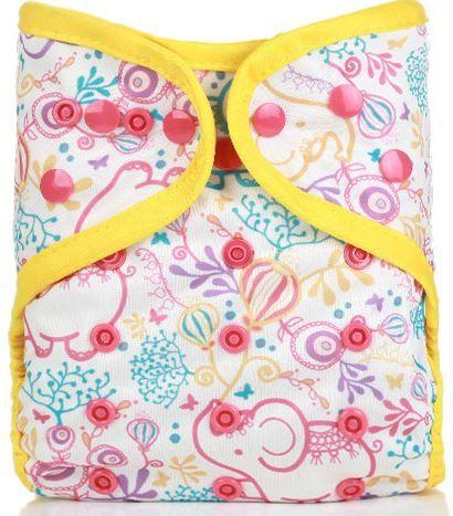 Elephant and Balloon - Diaper Cover + 1 Wet-free Insert