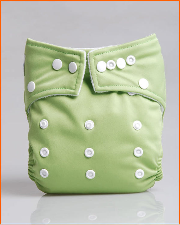 Solid Green - Babyland Microfleece Pocket Diaper