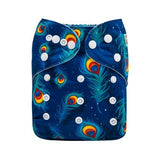 Night feathers - Microsuede Pocket Diaper