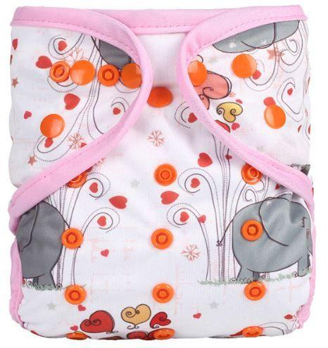 Jumbo Elephant - Diaper Cover + 1 Wet-free Insert