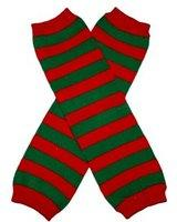 Red Green Stripes Legwarmer