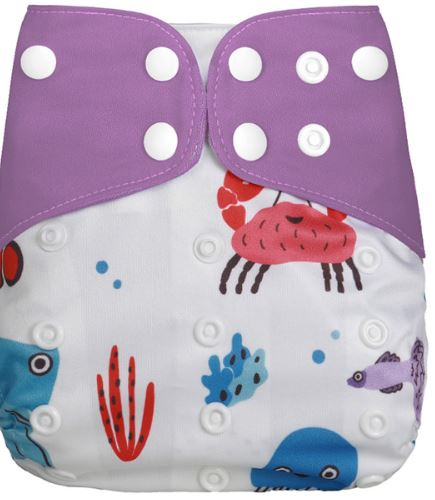 Sea Souls - Microsuede Pocket Diaper