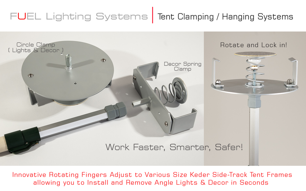 FUEL Tent Clamp Hanging System