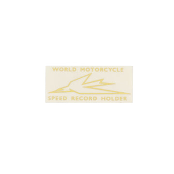 600056 - WORLD M/C SPEED RECORD HOLDER DECAL