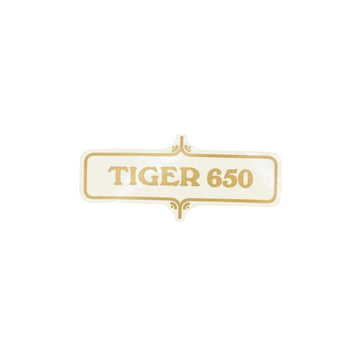 603723 - TIGER SIDECOVER DECAL 1972