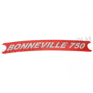 604148 - BONNEVILLE 750 SIDECOVER DECAL RED/SILVER