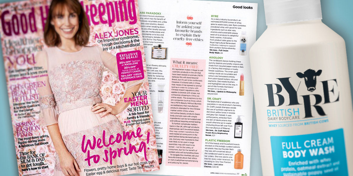 Good Housekeeping featuring Byre Full Cream Body Wash