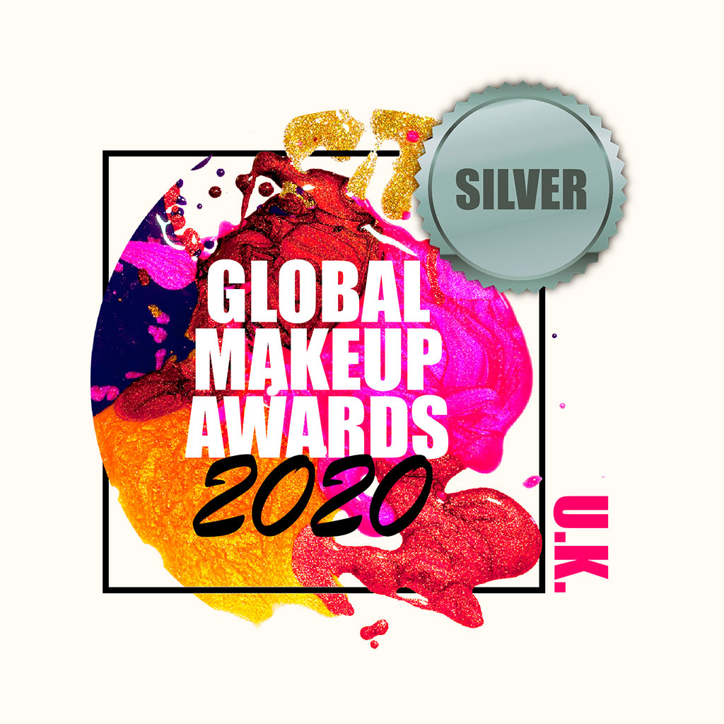 Silver winner at the Global Makeup Awards 2020