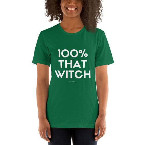 100% That Witch Green Short-Sleeve Unisex T-Shirt