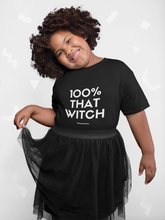 Load image into Gallery viewer, 100% That Witch Youth Short Sleeve T-Shirt
