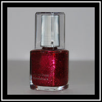 Nagellack, stained glass glimmerlack rot