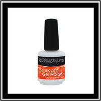Soak off Gel Polish coral shimmer