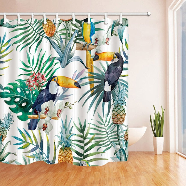 Tropical Parrot Shower Curtain - Good Vibes Home Decor