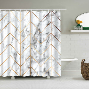 Marble Themed Shower Curtain