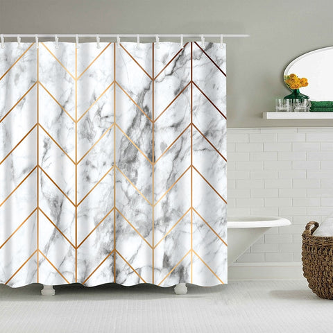 Marble Themed Shower Curtain - Good Vibes Home Decor