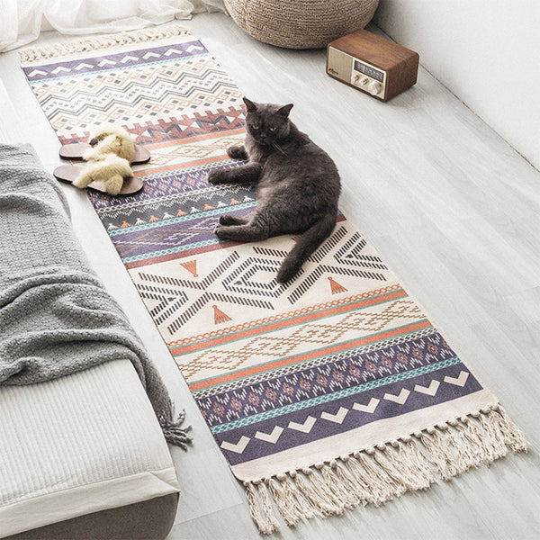 Boho Tassel Knitted Floor Mat - Good Vibes Home Decor
