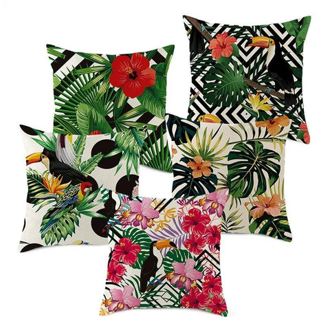 Tropical Themed Cushion Covers - Good Vibes Home Decor