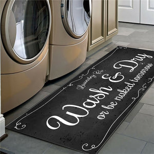 Laundry Room Non-Slip Floor Mat - Good Vibes Home Decor
